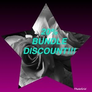20% discount on bundles 3 or more!!